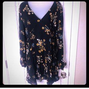 {NWOT} wild fable long sleeve boho floral dress